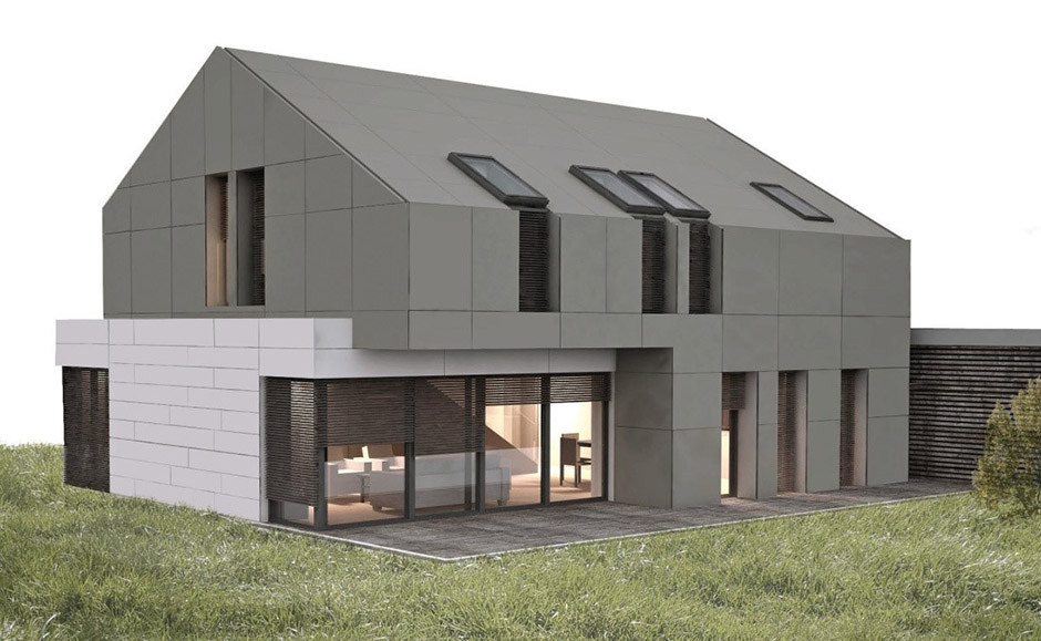 Timber-frame passive house Marles